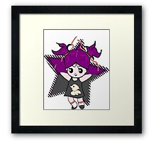 Little girl dancing - chibi style Framed Print