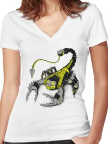 Real Scorpion  Women's Fitted V-Neck T-Shirt