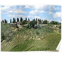 Tuscan landscape,Chiantishire-Italy Poster