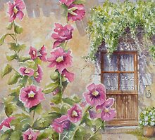 Hollyhock Cottage by FranEvans