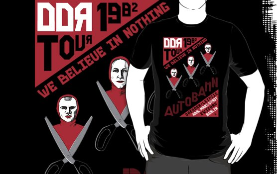 Autobahn−1982 East German Tour T-Shirt by castlepop