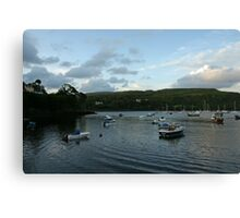 Portree Harbour in the evening. Canvas Print