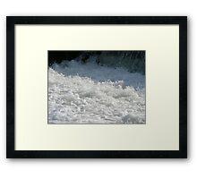 White white water Framed Print