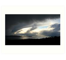 Snowstorm coming, Bantry Bay Art Print