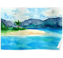 Sandy Cove - Seascape Watercolour Poster