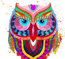 Cute Colorful Owl by alexrow