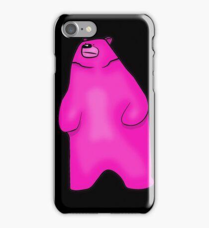 Big Neon Pink Bear iPhone Case/Skin