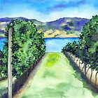 Between the Vines - Landscape Watercolour by Brazen Edwards-Hager