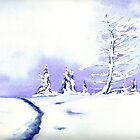 Crystal Mountain - Landscape Watercolour by Brazen Edwards
