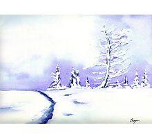 Crystal Mountain - Landscape Watercolour Photographic Print