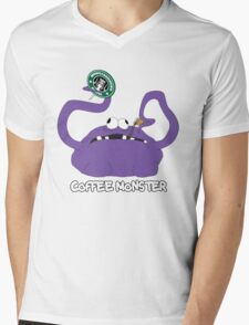 Coffee Monster Mens V-Neck T-Shirt
