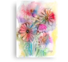 Tie Dye Daisies Canvas Print