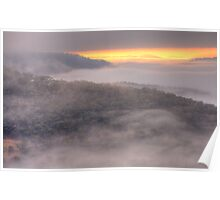 Play Misty For me - Merlins Lookout, Hill End - The HDR Experience Poster
