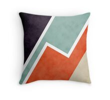 Colorful Textural Abstract Graphic Throw Pillow