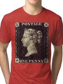 British Penny Black Postage Stamp Tri-blend T-Shirt