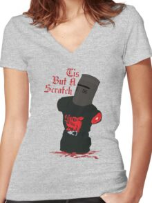 Black Knight - Tis But A Scratch Women's Fitted V-Neck T-Shirt