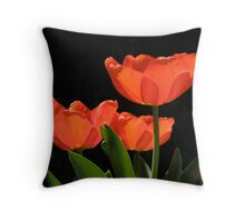 Dramatic red tulips Throw Pillow