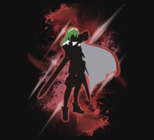 Super Smash Bros. Red Lucina Silhouette One Piece - Short Sleeve