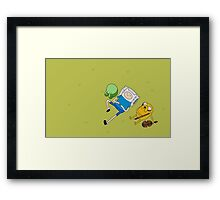 Finn and Jake. Framed Print