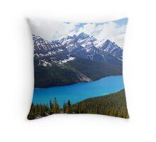 Peyto Lake Panorama Throw Pillow