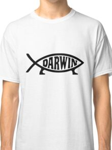 Darwin Fish Science Evolution Sign  Classic T-Shirt