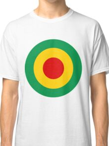 Target Rasta Colours Red Green Gold Classic T-Shirt