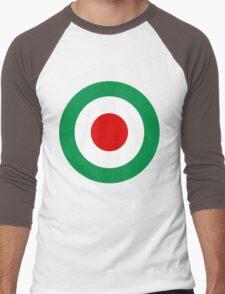 Target Italy Red White Green Men's Baseball ¾ T-Shirt