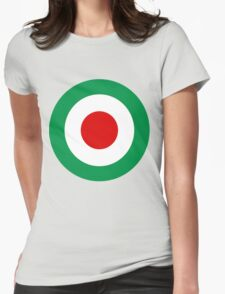 Target Italy Red White Green Womens Fitted T-Shirt