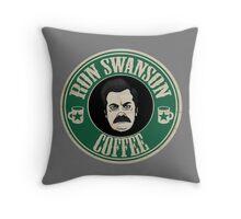 Swanson Coffee Throw Pillow