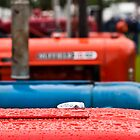 Tractors in the rain by Jim Orr