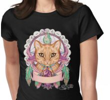Miss Ember the Feather Cat Womens Fitted T-Shirt