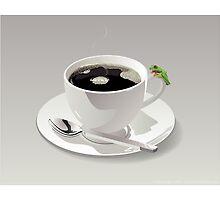 Coffee Frog by illufox