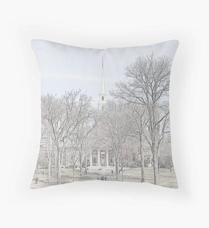 Memorial Church - Harvard Yard Throw Pillow