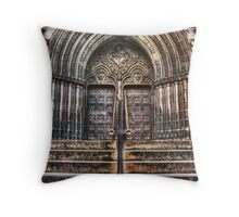 St Giles Cathedral Edinburgh Main Entrance Throw Pillow