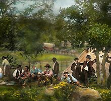 Civil War - Gettysburg camp of Captain Huft 1865 by Mike  Savad
