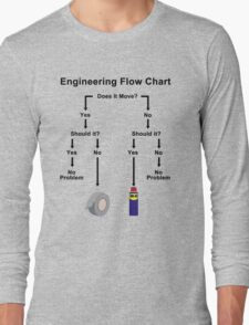 Engineering Flow Chart Long Sleeve T-Shirt