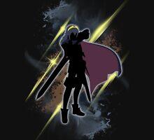 Super Smash Bros. Black/Gold Lucina Silhouette Unisex T-Shirt