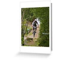 Through the Trees I see a rider Greeting Card