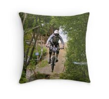 Through the Trees I see a rider Throw Pillow