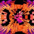 Tangerine Butterflies by Deborah Lazarus