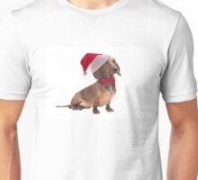 Santa Dachshund Unisex T-Shirt