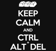 Keep Calm - Ctrl + Alt + Del One Piece - Long Sleeve