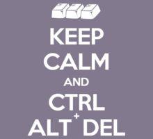 Keep Calm - Ctrl + Alt + Del Kids Tee