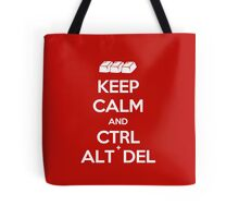 Keep Calm - Ctrl + Alt + Del Tote Bag