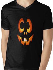Vector Image of Friendly Halloween Pumpkin Mens V-Neck T-Shirt