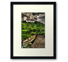 Loch Ard Jetty & Boat Framed Print