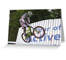 Flying Past the Wallride Greeting Card