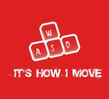 WASD - It's how I move One Piece - Short Sleeve
