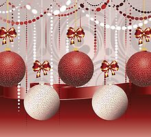 Red and White Xmas Balls 3 by AnnArtshock