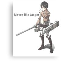 Attack on titan - jaeger Canvas Print